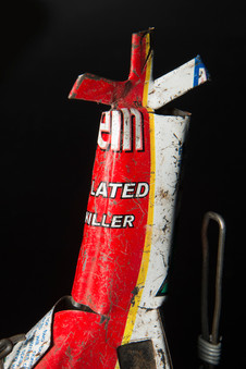 Recycled tin helicopter, Ghanaian, c. 1980s - 1990s