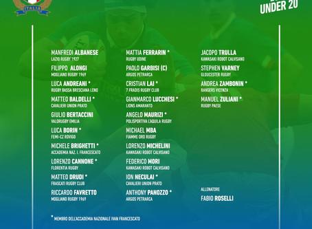 Italia U20, gli Azzurrini convocati per le prime due partite del Sei Nazioni 2020