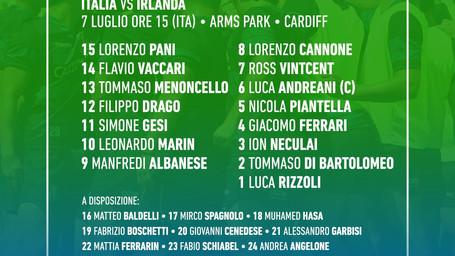 Italia U20, gli Azzurrini per la sfida all'Irlanda al Sei Nazioni
