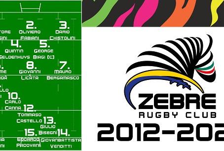 Zebre Rugby: i tifosi scelgono il XV bianconero ideale 2012-2020