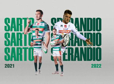 Benetton Rugby: prolungati i contratti di Leonardo Sarto e Luca Sperandio