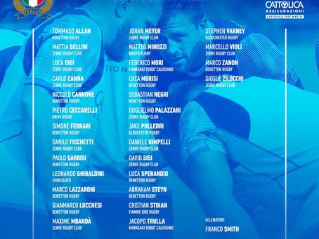 Italia, i convocati per i Cattolica Test Match e la Autumn Nations Cup 2020