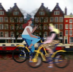 Riding in Amsterdam