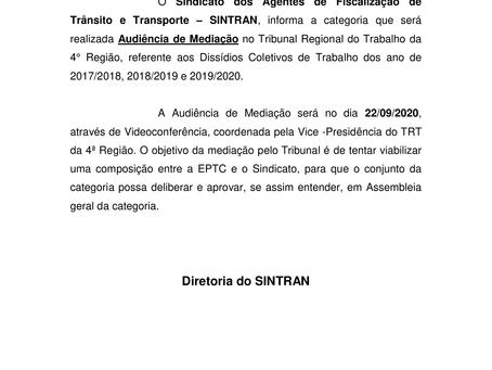 Audiência de Mediação TRT