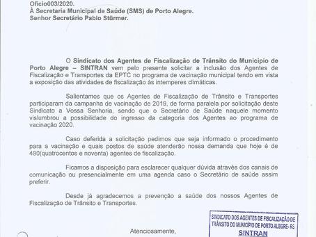 Solicitação de Inclusão dos Agentes no Programa de Vacinação Municipal