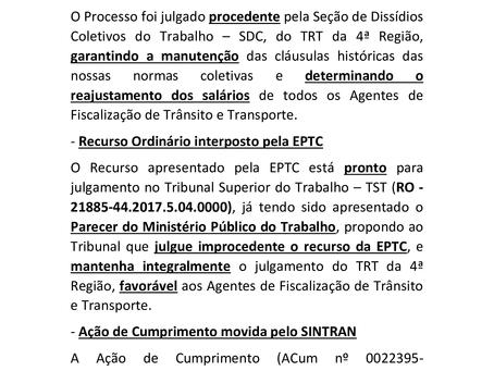 RELATÓRIO-PROCESSOS/SINTRAN