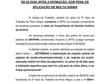 Sentença Dissídio 2018/2019