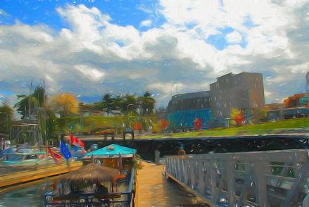 Abstract Painting of Nanaimo
