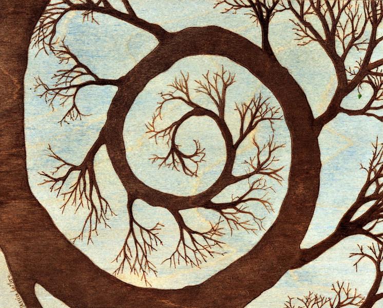 Spiraled