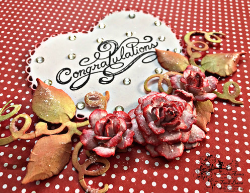 A Wedding Card With Heartfelt Creations Classic Wedding And Rose Collection