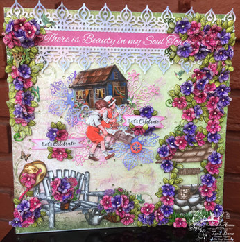 A layout with heartfelt creations classic petunia collection