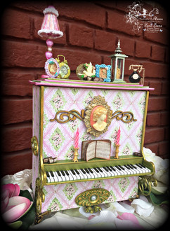 Classic Grand Piano Memory Box And Mini Accordion Album With Heartfelt Creations Flowering Dogwood Collection