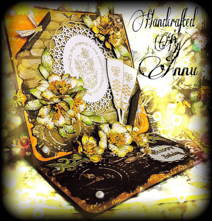 Vintage Card With Heartfelt Creations Sunrise Lily Collection