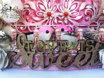 """""""Love Is Sweet """" Altered Birdcage Photo Frame"""