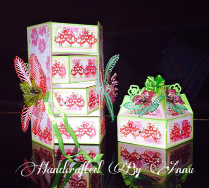 Magic Four Drawer Box With Heartfelt Sunrise Lily Flowers
