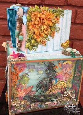 Mini Album Locker With Shadow Box Using Heartfelt Creations Under The Sea Collection