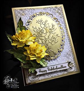 Rakshabandhan Card With Get Inspired Silk Foamiran Classic Roses