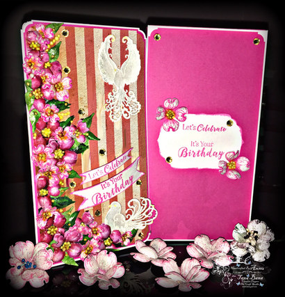A Card Made With My Designed Pattern Paper And Heartfelt Creations Flowering Dogwood Collection