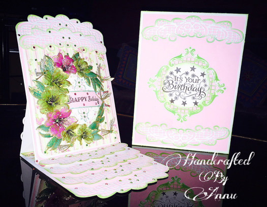 Birthday Card With Heartfelt Creations Sunrise Lily Collection