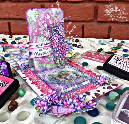 Slider PopUp Card With Heartfelt Creations Lush Lilac Collection