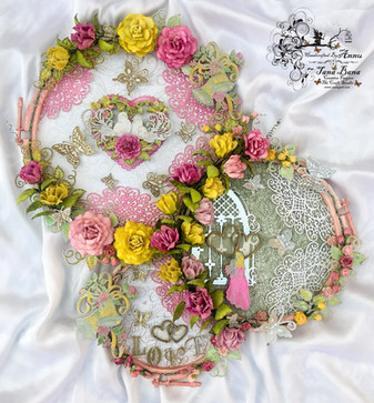 Altered Embroidery Hoops With Heartfelt Creations Classic Wedding And Classic Rose Collection