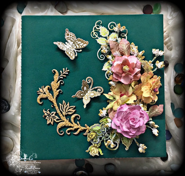Memory Box Made With Heartfelt Creations Flowers Dies And Foamiran