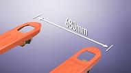 BASHI 橋力牌 CS 經濟級汛用型手唧車, 叉闊選擇為520,540,550及680mm