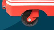 FW抗衡型堆高機,可加裝傍輪, 由三輪式配置提升為更穩定的五輪式