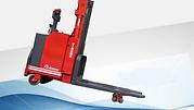 SS 底腳提升型推高機,方便於較凹凸地面使用、 亦可輕微爬坡
