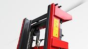 RH伸展型堆高機,純粹為耐用而製造 : 特厚車架及車叉, 高剛性排架
