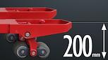 SS 底腳提升型推高機,底腳可提升至200mm