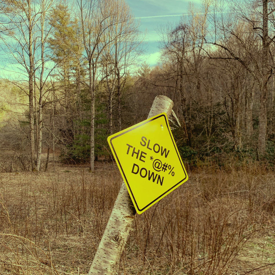 SLOW THE *@#% DOWN