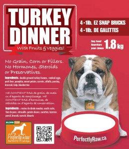 Perfectly Raw Turkey Dinner Mix - 32lb box