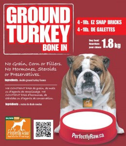 Perfectly Raw Ground Turkey Bone In - 32lbs (16x2lb) Frozen Wholesale