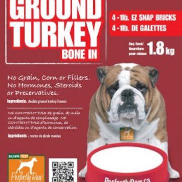 Perfectly Raw Ground Turkey Bone In - 32lb Box