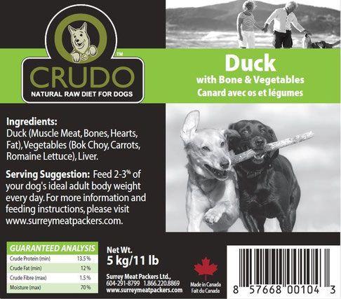 Crudo Duck w/ Bones and Vegetables