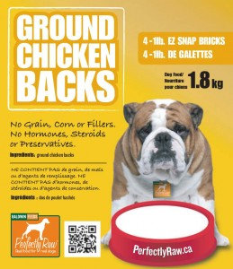 Perfectly Raw Ground Backs - 32lbs (16x2lb) Frozen Wholesale