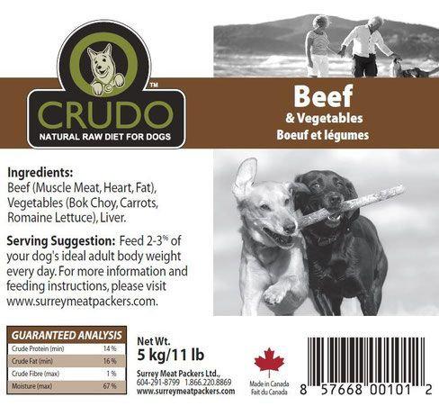 Crudo Beef w/ Vegetables
