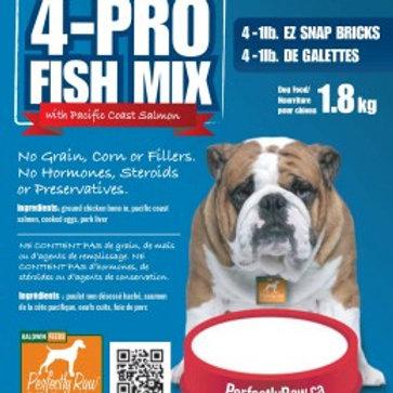 Perfectly Raw 4-Pro Fish Mix - 32lb Box