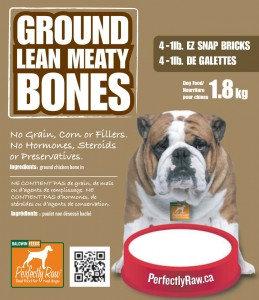 Perfectly Raw Ground Lean Meaty Bones - 32lbs (16x2lb) Frozen Wholesale