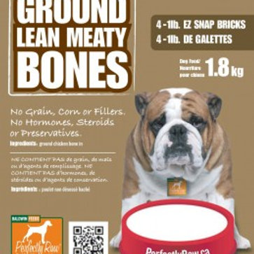 Perfectly Raw Ground Lean Meaty Bones - 32lbs (16x2lb) Frozen Wholesale