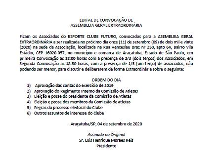 Edital de convocação 04-09-2020