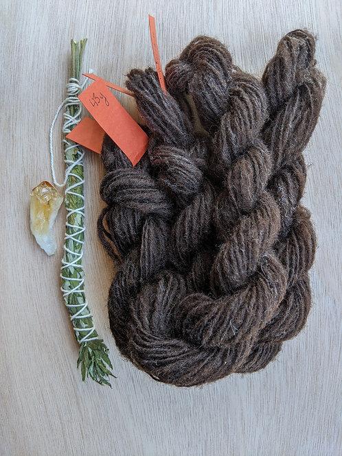 Single Spun Yarn - Dark Brown Columbia/Corriedale