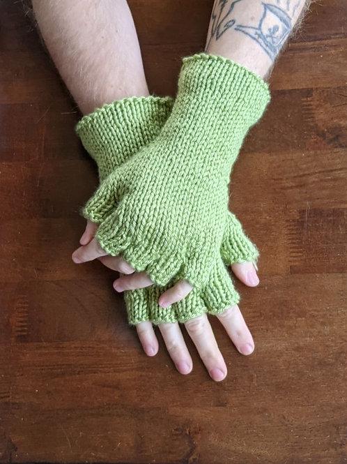 Fingerless Gloves - Green Tea