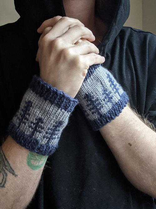 Sentinel Cuffs - Grey/Blue