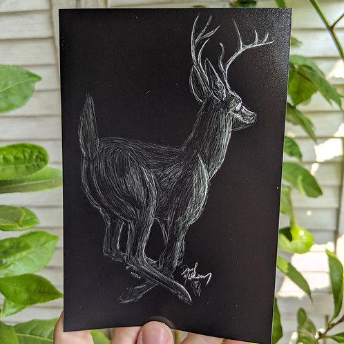 """Deer - 4x6"""" Print"""