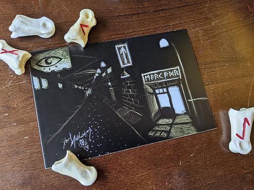 "Astral Corner Market - 4x6"" Postcard"