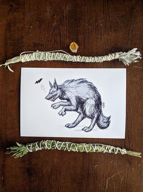 Creepin Werewolf - 4x6 Print