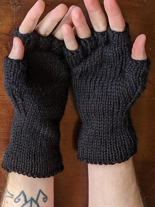 Fingerless Gloves - Solid Black