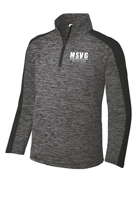 MSVG 1/4Z Zip Pullover -Black